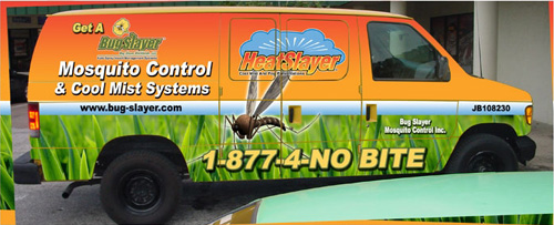 Bug Slayer Kills Mosquitos, No See-ums, Flies and Spiders in and near Tampa Florida